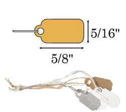 "5/16"" x 5/8""  White Paper Jewelry String Tags"