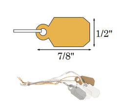 "1/2"" x 7/8"" Plain White Paper String Tags"