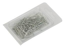 """Silver """"U""""-pins - 100 Pcs"""