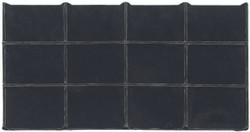 Black Faux Leather 12 Section Jewelry Deluxe Tray Insert Liner