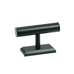 "Black Leatherette Bracelet Display 5""H T Bar"