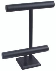 Black Leatherette Off Set Tall T Bar