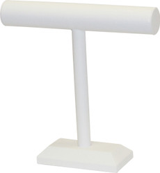 "White Leatherette 12""H T Bar"
