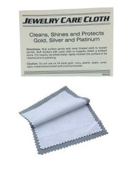 4x6 Grey/White Jewelry Polishing Cloth