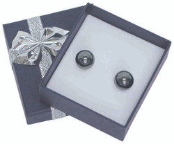 "12 Boxes - Linen Blue Bow Tie Gift Boxes for small Earrings - 2"" x 2 1/8"" x 7/8"""