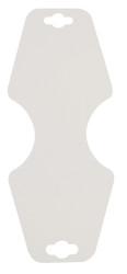 Large White Necklace/Bracelet Fold-over Cards - 100Pcs