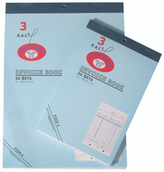 Large 3-Part Invoice Books