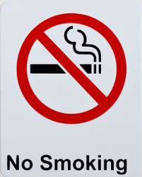 """No Smoking"" Store Signage - 7"" x 5 1/2""H"