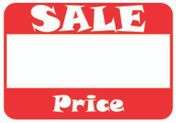 "1 5/8"" x 1 1/8""H Self Adhesive Pre-Printed ""Sale  Price"" Labels (500 labels)"