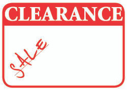 "1 5/8"" x 1 1/8""H Self Adhesive Pre-Printed ""CLEARANCE Sale"" Labels (500 labels)"