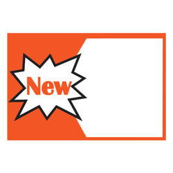 "Small Paper ""NEW"" Store Message Sign (50Pcs/Pack)"