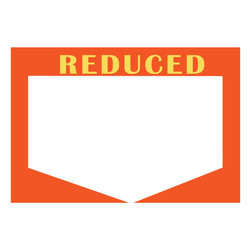 "Small Paper ""REDUCED"" Store Message Sign (50Pcs/Pack)"