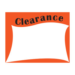 "Small Paper ""Clearance"" Store Message Sign (50Pcs/Pack)"