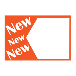 "Small Paper ""NEW NEW NEW"" Store Message Sign (50Pcs/Pack)"