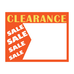 "Large Paper ""Clearance Sale Sale"" Store Message Signs (50Pcs/Pack)- 7""W x 5 1/2""L"