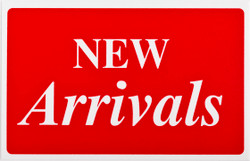 "Plastic ""New Arrivals"" Store Message Sign 11""W x 7""L"
