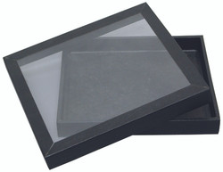 """Magnetic Acrylic Lid Display Case - 8 1/4"""" x 7 1/4"""" x 1 1/8""""H"""