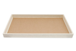 "1"" Deluxe Linen Standard Utility Trays - 14 3/4"" x 8 1/4"""