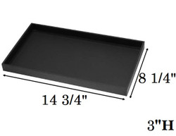"3"" Deep Standard Black Utility Trays"