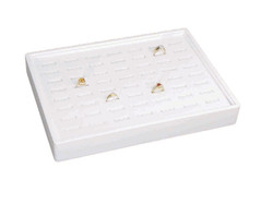 Stackable 56 Showcase Slotted Ring Display Tray