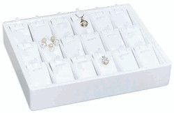 Small Stackable 18 Showcase Pendant/Earring Display Tray