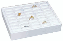 Small Stackable 20 Showcase Slotted Ring Display Tray