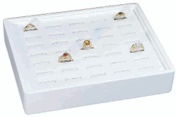 Small Stackable 35 Showcase Slotted Ring Display Tray
