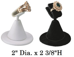 White Single Ring Clamp Jewelry Display Stand