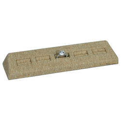Burlap Fabric 5-Slot Ring Display Stand