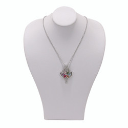 Small White Wide Shoulder Necklace Display