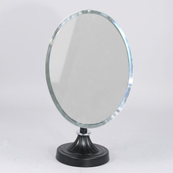 Adjustable Mirror with Black Metal Base (Oval w/Tilt)