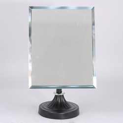 Adjustable Mirror with Black Metal Base (Rectangle)