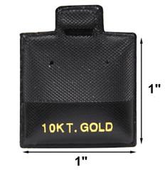 """10 KT. Gold"" Printed Black Vinyl Puff Pads - 1"" x 1"""