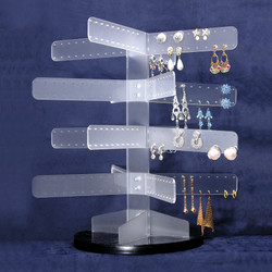Branched out Acrylic Rotating Earring Stand