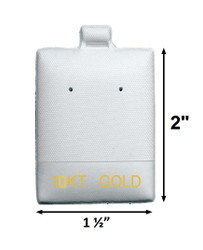 """10 KT. Gold"" Printed White Vinyl Puff Pads - 1 1/2"" x 2"""