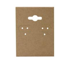 "Kraft Plain Hanging Earring Cards - 1 1/2"" x 2"""