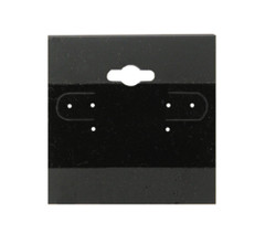 "Black Plain Hanging Earring Cards - 2"" x 2"""