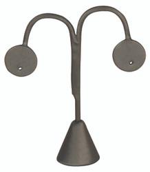 """Steel Grey Single Earring Display Tear Drop Shape 4 3/4""""H"""