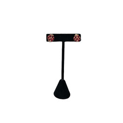 "Black Single Earring T-Shape 4 3/4""H Display"