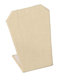 Beige Linen Single Notched Edges Earring Display Stand