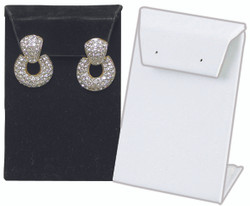 White Single with Flap Earring Display