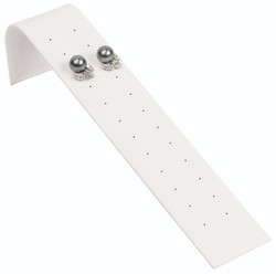 White Earring Ramp Display for up to 12 Pair of Studs