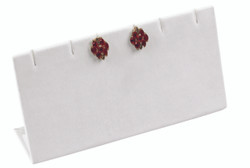 White Slotted Earring Display for up to 3 Pairs.