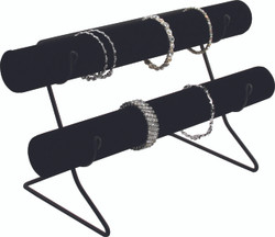 Black Velvet Single Tube Bars with Wire Base