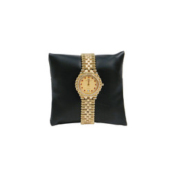 "4"" Black Leatherette Pillow Displays"