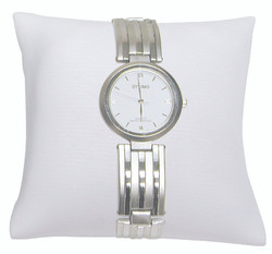 "4"" White Leatherette Pillow Displays"