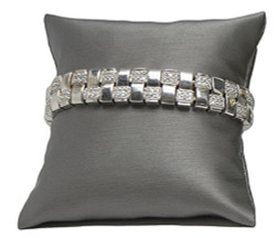 "3"" Steel Grey Pillow Displays"