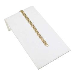 "White Leatherette 4 3/4"" Wide Bracelet Ramp"