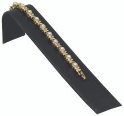 """Black Velvet 1 1/2"""" Wide Single Bracelet Ramp"""