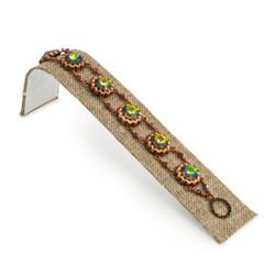 """Burlap Fabric 1 1/2"""" Wide Single Bracelet Ramp"""